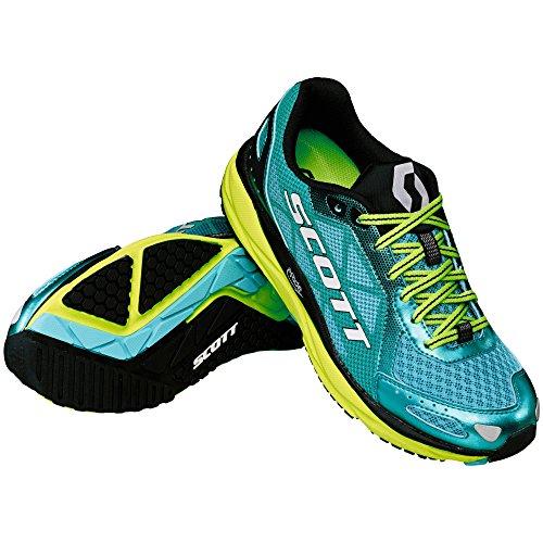 Scott Running Zapatilla WS AF + Trainer, Blu/Giallo