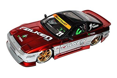 Nissan 240SX Rot Tuning 1/18 Jada Modell Auto