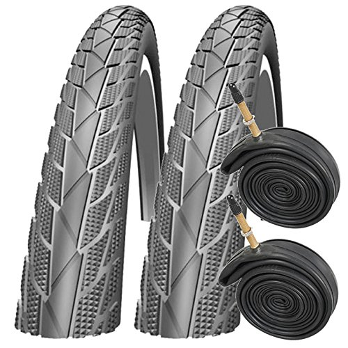 """Impac Streetpac 26\"""" x 1.75 Mountain Bike Tyres with Presta Tubes (Pair)"""