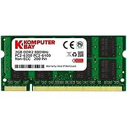 Komputerbay 2GB DDR2800MHz PC2–6300PC2–6400DDR2800(200pin) SODIMM Notebook Speicher