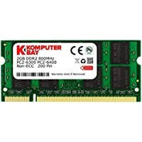 Komputerbay 2GB 200 pin DDR2-800 (PC2-6400) SO-DIMM 128Mx8x16 double side für DDR2 Notebooks