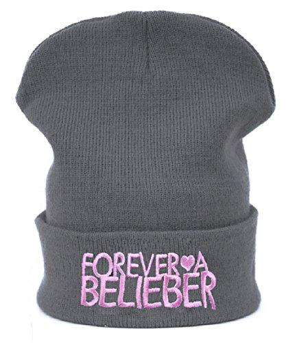 Winter Strickmütze Damen Herren Wurm Beanie Mütze Justin Forever Belieber MFAZ Morefaz Ltd