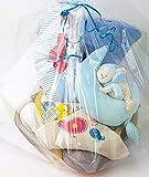 Baby Geschenkkorb WC Sitz Babydecke Spieluhr fertig verpackt blau