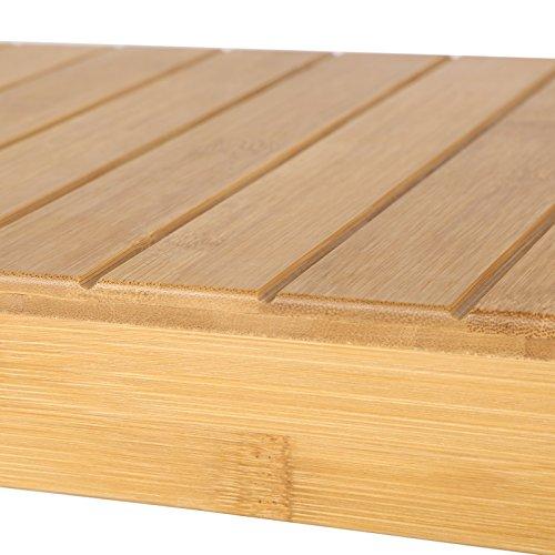 Sitzbank / Schuhregal aus Bambus - 8