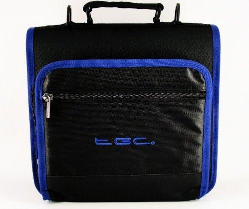 new-jet-negro-y-dreamy-azul-adornos-y-revestimientos-deluxe-doble-compartimento-hombro-bolsa-de-tran