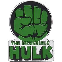 MARVEL COMICS RETRO HULK FIST, Officially Licensed Original Artwork - Heavy Duty Metal Sticker DECAL ETICHETTA