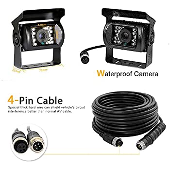 Car Video Extension Cable 4-Pin Aviation Cable Waterproof Shockproof for CCTV Rearview Camera Truck Trailer Camper Bus Motorhome Vehicle 10m