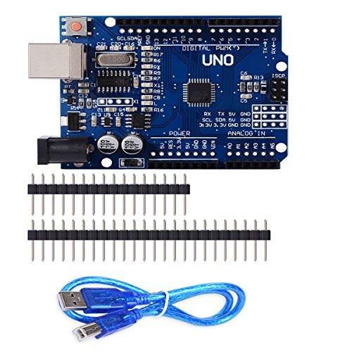 UNO R3 Arduino Rev3 ATMEGA328P CH340G Consiglio Compatibile DIY USB Cable & Pins