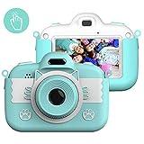 Kinderkamera Digital Kamera, Vannico Touch Screen Kinder Selfie Mini HD Kamera Mädchen Jungen, Digitalkamera für Kinder Actionkameras Camcorder mit 16G SD Karte (Blau)