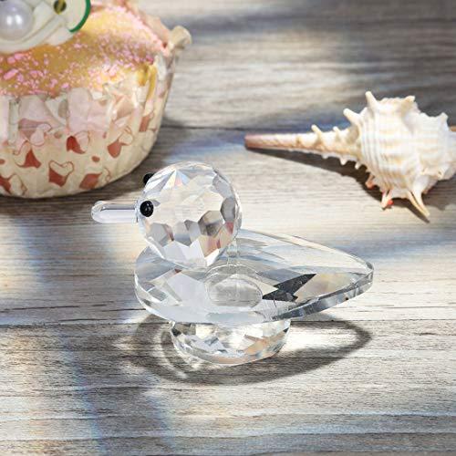 H&D Kristall Tier Figur Mini Ente Figur, 4,3cm -