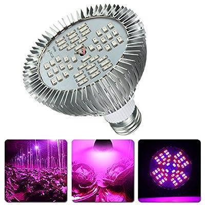 Bazaar 12W E27 Full Spectrum LED Hydroponic Plant Grow Light Bulb Indoor Growing Lamp