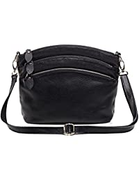 3a63a560dfa3 EPLAZA Leather Women Wristlet Purse Shoulder Bags Crossbody Bag Clutch  Wallets (Black)