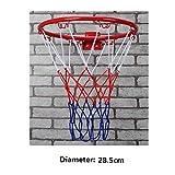SwirlColor Indoor & Outdoor Hängewandbasketballkorb Vorstand Ring Tor für Kinder