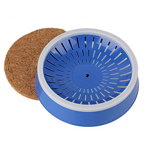 Blau Warm Tauben Vogel Supplies Kunststoff Eier Waschbecken Nest mit Gras Matte