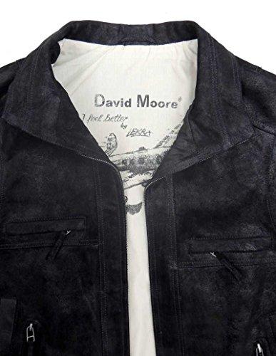 Herren Lederweste 2318 | David Moore Schwarz