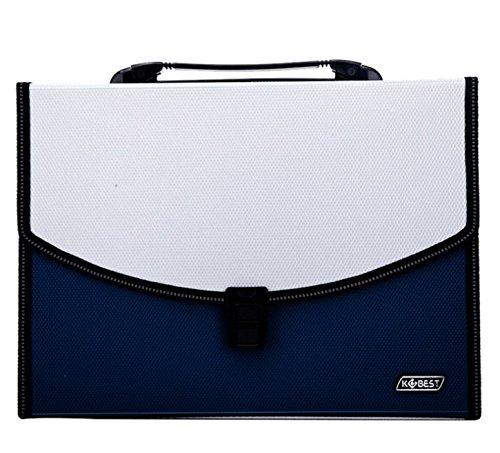 Unbekannt Home Decor Portable Expanding File Folder A4 Dokument-Halter mit 13 Taschen Ordnungs-Ordner Schreibtisch-Speicher-Akkordeon-Akten-Organisator mit Deckel