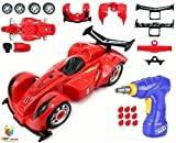 #7: Toys Bhoomi 2 in 1 Build Your Own Formula Racing Car Take Apart Modification Playset – Includes Electric Drill & Car Parts with Lights and Sounds (24 Pieces)