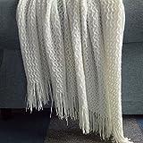 Ai.Moichien 130 cm * 150 cm Quasten Fransen Decke Weiche Sofa Dekorative Sofa Stuhlabdeckung Tischdecke Beige (51