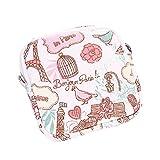 Dorical Damenbinde Taschen Wasserdichte Aufbewahrungstasche, Kulturtasche, Toilettentasche, mit Reißverschluss, für Tücher, Münzen, Make-up, Baumwolle Damen-Hygieneartikel(Rosa)