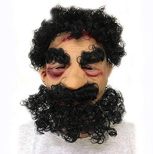 SUNWUKONG Große Nase Alte Mann Halloween Maske mit Bart Neuheit Latex Gummi Gruselige Horror Kopf Masken für Karneval Kostüm Party DREI Auswahlmöglichkeiten,