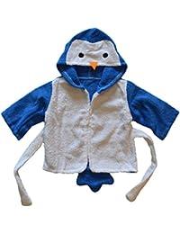 BOMIO | Baby Bademantel | Baby Kapuzen-Bademantel aus 100% hautfreundlichem Frottee | waschmaschinenfest und trocknergeeignet