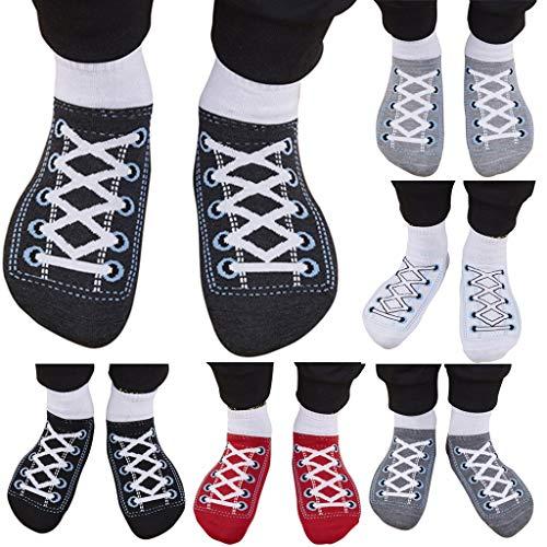 Casual Acryl-crew Socke (Skxinn Unisex Damen Mann Sports Socken Special Design Komfort gekämmte Crew Socks Wintersocken Stricksocken Damensocken (5 Pcs))