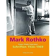 Schriften 1934-1969: Essays, Briefe, Interviews