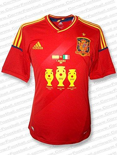 Adidas - ESPAÑA 1ª Camiseta Campeon EURO12 Hombre Color: Rojo Talla: L