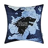 artoutletmf A Game of Thrones Häuser stark Winter is Coming Kissenbezug Home Sofa Decorativ 45,7 x 45,7 cm