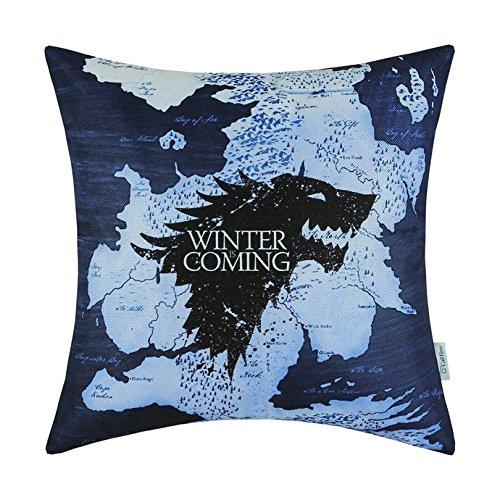 Artoutletmf a game of thrones houses stark winter is coming home federa per cuscino divano decorativ 45,7x 45,7cm