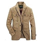 Herren Mode Tasche Anzug Mittellange Langarm Jacke Mantel, EUZeo Mens Retro Stil Strickjacke Trenchcoat Solide Jacke Cardigan Casual Jahrgang Trench