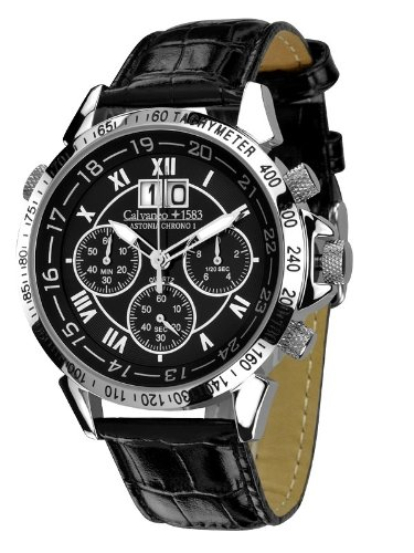 Calvaneo Astonia Chrono One Steel Black