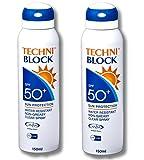 Techniblock® SPF50+ muy alta protección solar 150ml x 2
