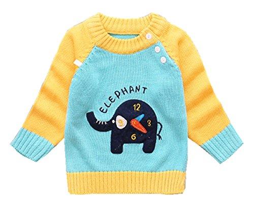 Baby Jungen Mädchen Sweatshirt Little Hand Pulli Lang Kinder Jumper Elefant&Kaninchen Bedruckt Pullover 80 86 92