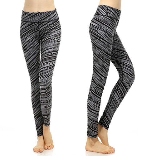 phennie Damen Workout Leggings Hohe Taille Stretch Sports Laufen Joggen Yoga Pants Medium Breeze - Großhandel Halloween Totenköpfe