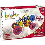 BROKS Mad Race - Juego de construcción con 108 piezas encajables incluidos engranajes de alta calidad para niños y niñas de 4 a 9 años