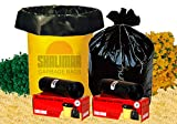 #7: Shalimar Virgin Garbage Bags (Medium) Size 48 cm x 56 cm 6 Rolls (180 BAGS) (Trash Bag/ Dustbin Bag)