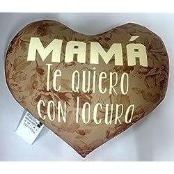 """Cojin corazón mamá """"""""te quiero con locura"""""""