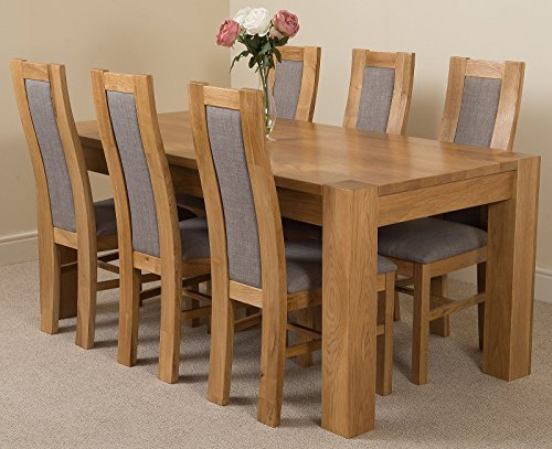 Kuba Chunky 180cm Kitchen Solid Oak Dining Table ...