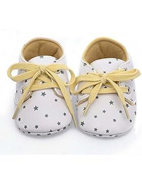 Hongfei Unisex Antiskid Toddler Newborn Infant Baby's Shoes con Star Print Soft Sole