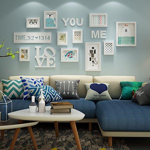 hjky Definieren ein Bilderrahmen weiß Idyllische Wall Fotos ihr Sofa, Rahmen aus Holz einwandig Weiche Dekorationsstift Kit Kombination 2964 10 White Box +LOVE 8 X 10 Magnetische Bilderrahmen