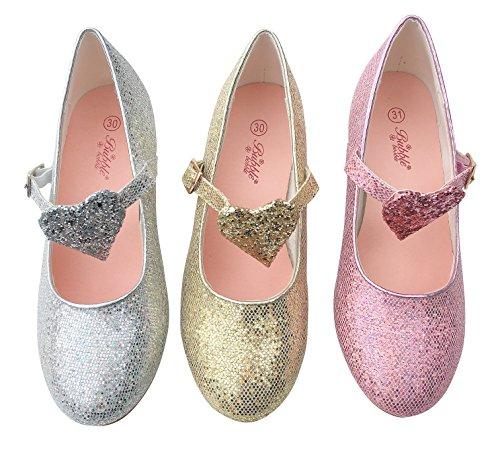 La Senorita Prinzessinnen Schuhe glitzer Elsa Frozen Spanische Flamenco Schuhe rosa Rosa