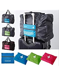CONNECTWIDE® Happy Flight Foldable BAG, 32 Litre, Polyester Material, Large Capacity Waterproof Foldable Lightweight Luggage Bag 1 PC Dimension (46*33.5*20 cm) Assorted Color