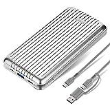 Zendure A6PD Batterie Externe 20000mah, 45W Power Delivery Chargeur Portable avec 2 Ports Sorties, Power Bank USB-C Charge Rapide pour iPhone XS/XR, Samsung Galaxy, Switch, Macbook etc. -Argent