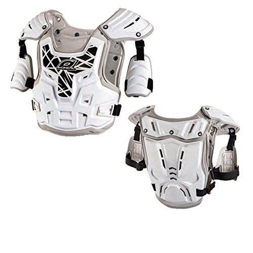 O'Neal PXR Stone Shield Protektorenjacke Offroad Motocross Enduro, 0734-, Farbe weiß