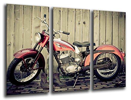 Quadro su Legno, Moto d'Epoca, Harley Davidson, 97 x 62cm, Stampa in qualita Fotografica. Ref. 26107