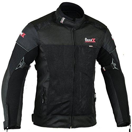Giacca protettiva per motocicletta condotto dell'aria & idrorepellente, S