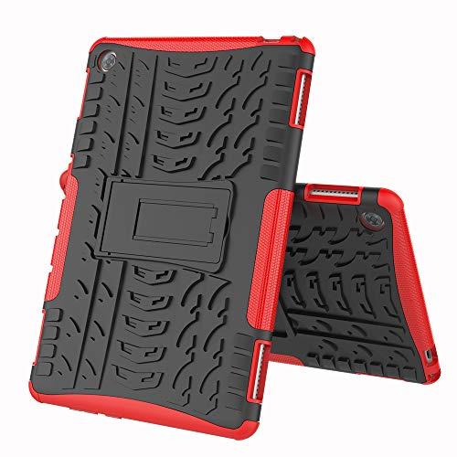 COVO® Huawei MediaPad M5 PRO (10.8 Inch)-Hülle Tough Hybrid Armor Case,Diese Handyhülle Anti-Wrestling Travel Essential Faltbare Halterung für Huawei MediaPad M5 PRO (10.8 Inch)(Rot)