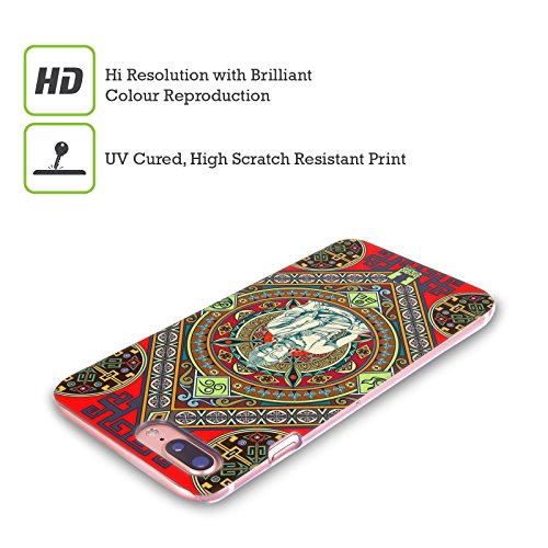 Head Case Designs Tamburo Di Tempio Tibetano Pattern Tibetani Cover Retro Rigida per Apple iPhone X Buddha