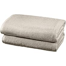 AmazonBasics - Set di asciugamani ad asciugatura rapida, 2 pezzi, 2 teli bagno - Platino